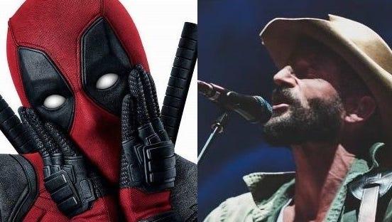 Deadpool, left, and Ray LaMontagne