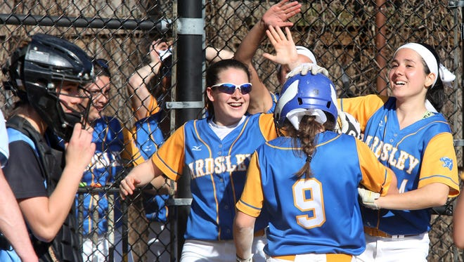 Ardsley's Lauren Rende (9) drove in seven runs in the Panthers' Section 1 Class B first round win over Hastings.