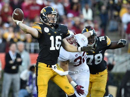 C.J. Beathard is the best quarterback in the Big Ten West, and he'll need to stay healthier than he was a year ago to try to lead Iowa to a second consecutive division title. A few stars need to emerge on the offensive line, which surrendered seven sacks against Stanford.