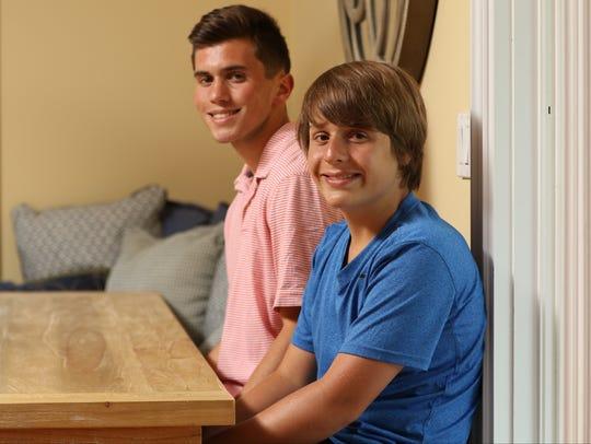 Jack DeSavino, of River Edge, and his cousin, Steven