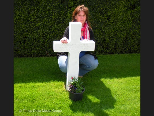 Krista Thys adopted the grave of George Steven March