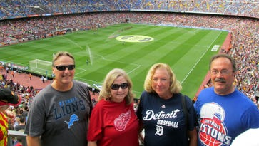 Pictured left to right are Dave Frankowski, Cindy Frankowski, Joni Gerweck and Tom Gerweck, all of Monroe.