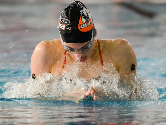 Cedarburg's Lillie Hosack competes in 200 individual