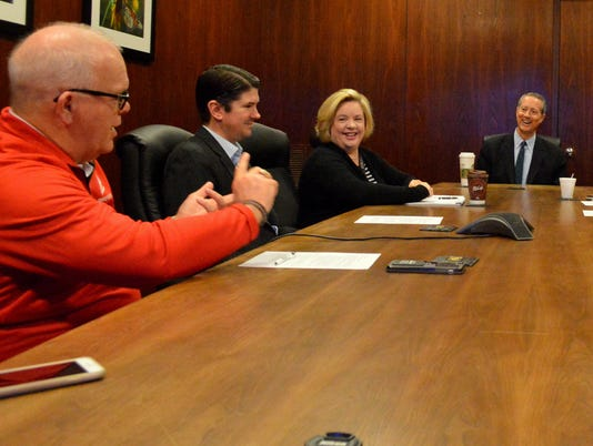 Thornberry meets with TRN editorial board