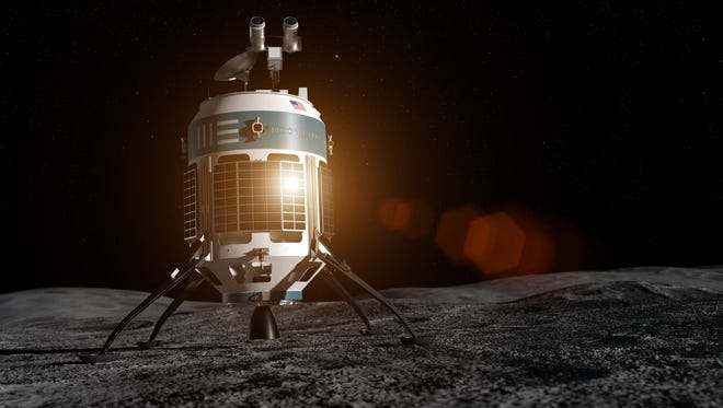 Moon Express describes its MX-1E lunar lander as a breakthrough in low cost space exploration. NASA plans to partner to with companies like Moon Express to send robotic landers to the lunar surface as soon as 2019.
