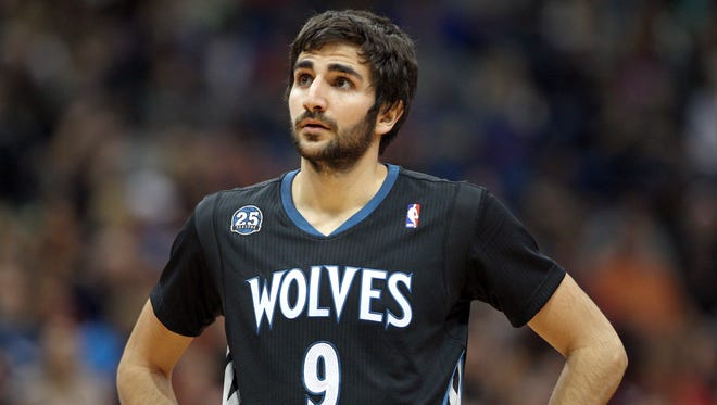 Timberwolves guard Ricky Rubio has struggled with his shooting.