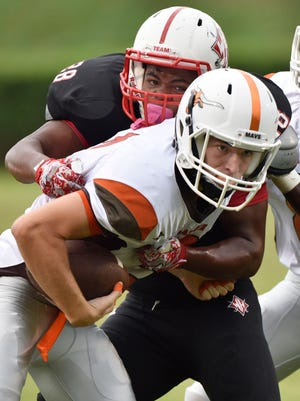 Mauldin wide receiver Hunter Dawsey, front, has been chosen to play in the Touchstone Energy Cooperatives Bowl in Myrtle Beach.