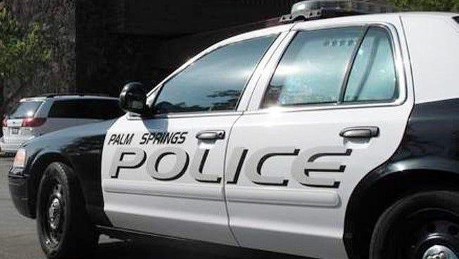 A Palm Springs police car.