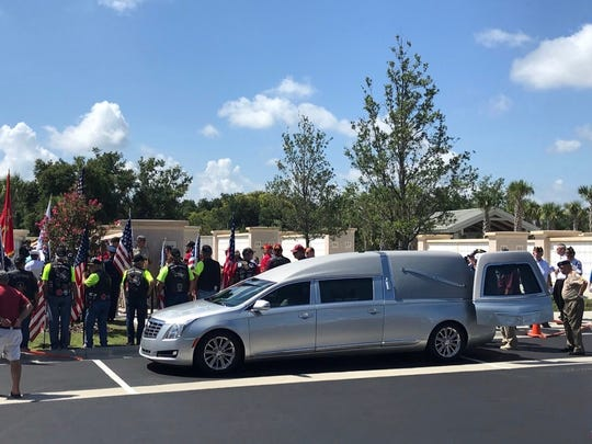 The unclaimed cremains of 21 American veterans and one veteran spouse were honored with a dignified military funeral with full honors at the Cape Canaveral National Cemetery in Mims.