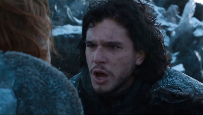 """An image from HBO's """"Game of Thrones,"""" showing Kit Harrington as Jon Snow."""