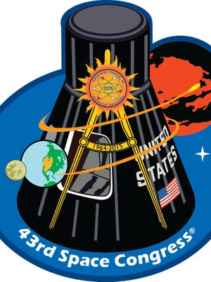 Official patch for the 43rd Space Congress.