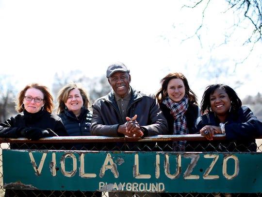 Colette Mezza, left, Julie Hamilton, Artis Johnson,