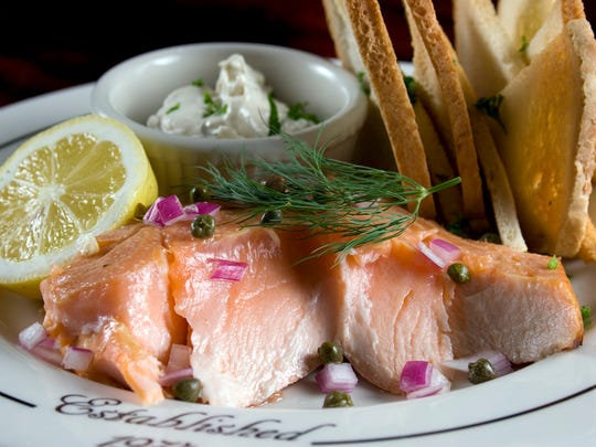In-House Smoked Salmon at Sperry's Restaurant.