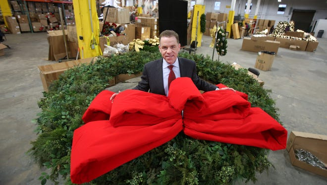 Fred Schwam of Armonk, CEO of American Christmas in Mount Vernon Dec. 9, 2014. The company provides the holiday decorations for Radio City, Saks, Rockefeller Center and other buildings in Manhattan.