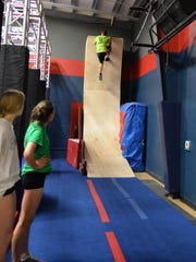 The Ninja Warrior training course based on NBC's American Ninja Warrior TM at the Paramount Sports Complex Inc., located in Annville, Pa., during a special preview held April 23, 2016.