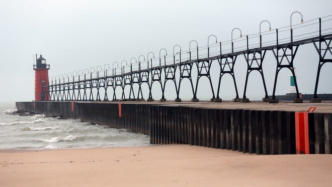 South Pier and Lighthouse in South Haven, Mich. on Jan. 11, 2013.