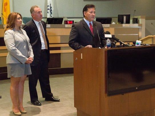 Las Cruces Mayor Ken Miyagishima, talking about the
