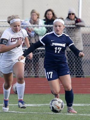 Chenango Forks was a 2-1 overtime winner over Elmira in the STAC girls soccer championship game Oct. 16 at Ernie Davis Academy's Marty Harrigan Athletic Field.