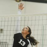 Senior middle Jessica Hrutkay made some big plays Thursday night for the Hawks.