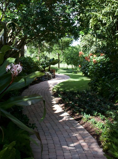 The entryway to Diane Turner's garden is canopied with