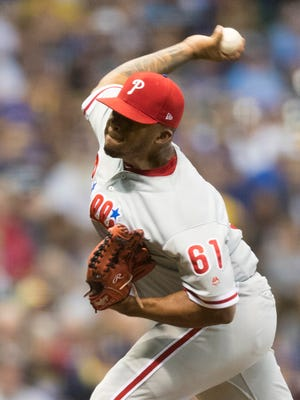 Philadelphia Phillies pitcher Edubray Ramos was placed on the 10-day disabled list with a right shoulder impingement on Monday.