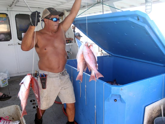 Plenty of undersized snapper were caught, but because