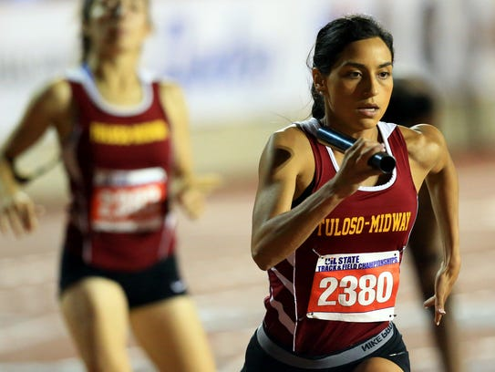Tuloso-Midway's Brianna Barrera compete in the 5A girls