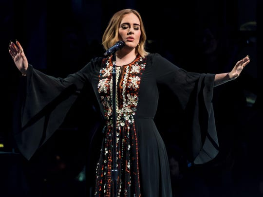 Adele told her audience Saturday that she had turned down an offer to perform at the Supler Bowl halftime show.