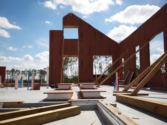 A home under construction at Babcock Ranch in Charlotte County uses modular, structural panels to create an airtight shell that's more energy efficient than standard builds.