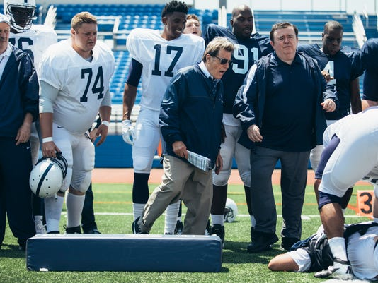 "In this image released by HBO, Al Pacino portrays Joe Paterno in a scene from ""Paterno,"" a film about the late Penn State football coach. The HBO movie directed by Barry Levinson debuts April 7. (Atsushi Nishijima/HBO via AP)"