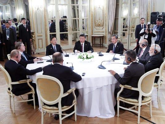 Xi Jinping, Vladimir Putin, Narendra Modi