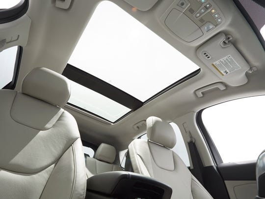 A panoramic Vista Roof features a forward panel that tilts up or opens fully.