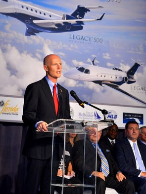 Governor Rick Scott talks about jobs and the growth