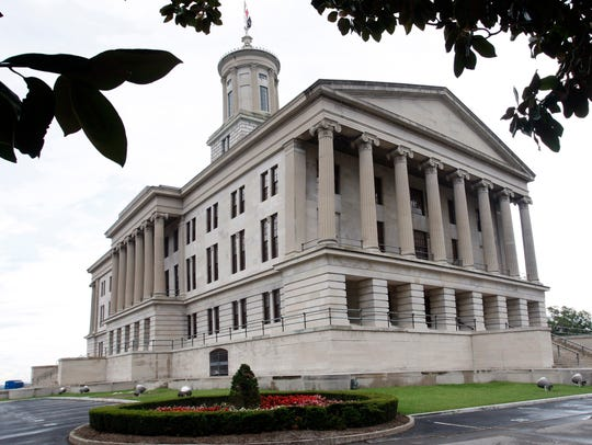 The Tennessee State Capitol building.