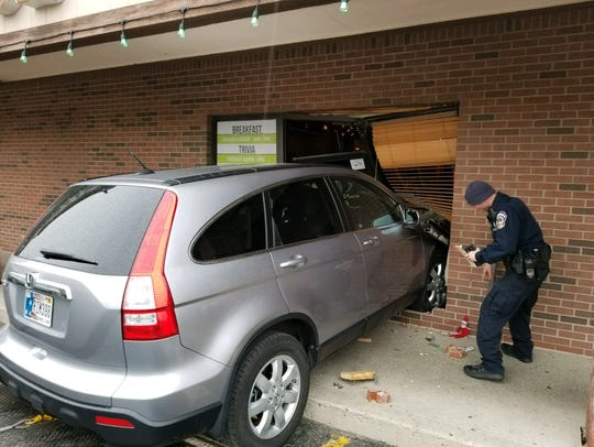 A car crashed into the side of popular Indianapolis
