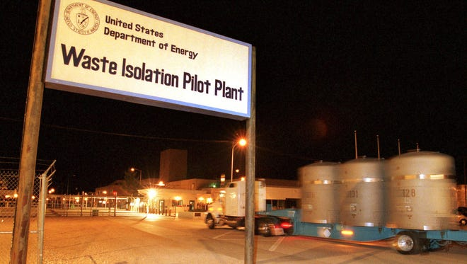 The first load of nuclear waste from Los Alamos arrives at the Waste Isolation Pilot Plant (WIPP) site in Carlsbad, N.M., on March 26, 1999.