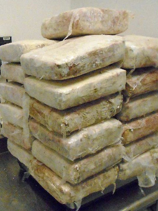 Marijuana found in brick pavers
