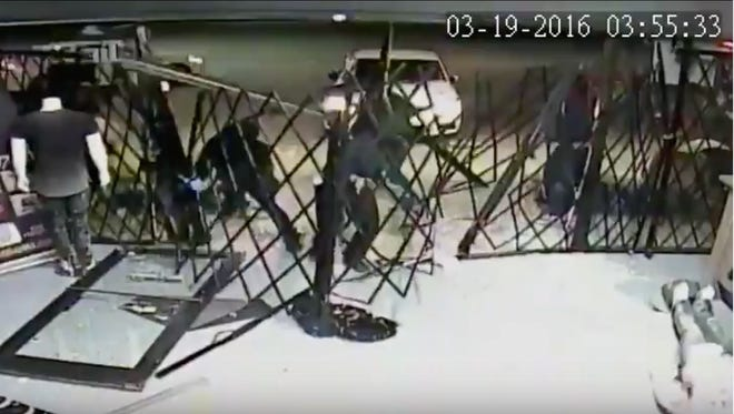 On March 19, as many as 12 suspects burglarized the Hang Time Clothing Store at 38th and Merdian streets.