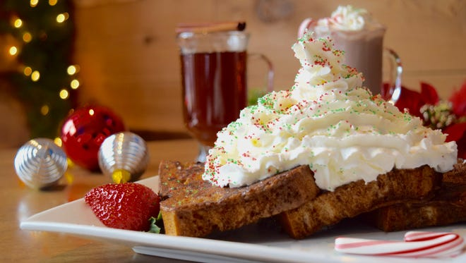 In Chicago, Commonwealth Tavern serves Gingerbread French Toast -- brioche dipped in a sweet ginger, cinnamon and nutmeg-based batter, fried and topped with a whipped cream Christmas tree.