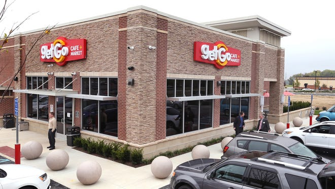 The GetGo Cafe + Market, a convenience store next to the new Carmel Market District, features fresh food, including made-to-order breakfast sandwiches and salads, and customizable subs with bread baked fresh daily. An adjacent fuel station has 16 pumps.