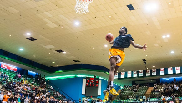 JaShaun Smith of Legacy Charter goes up for a dunk