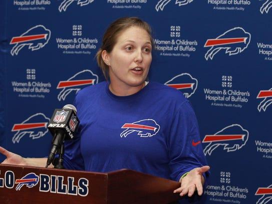 Buffalo Bills special teams quality control coach Kathryn