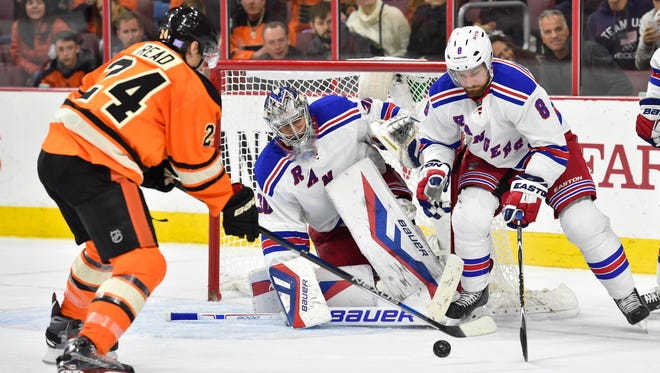 The Flyers beat the Rangers 3-2 in overtime when New York came to visit in October.