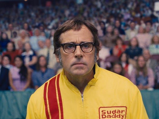 "Steve Carell plays Bobby Riggs in ""Battle of the Sexes."""