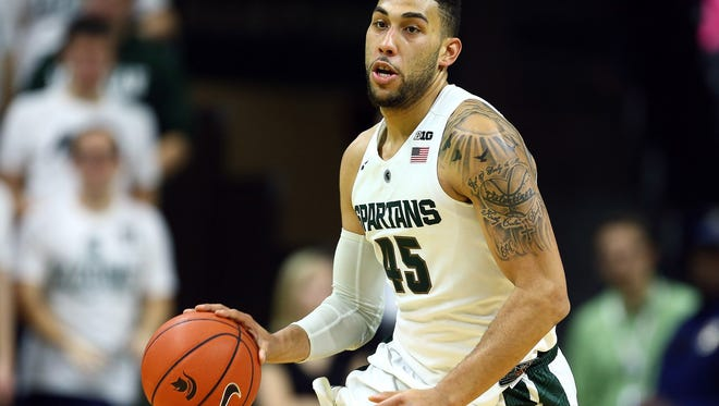 Michigan State senior guard Denzel Valentine
