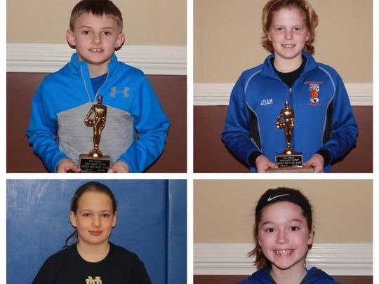 District winners, clockwise from upper left: Elmira's
