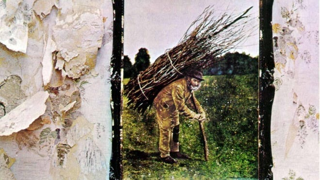 The cover to Led Zeppelin's fourth album.