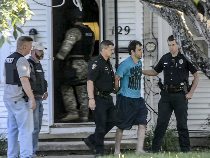 A man and a woman were taken from 129 Chilton Ave. at 7:30 after a 12 hour standoff.