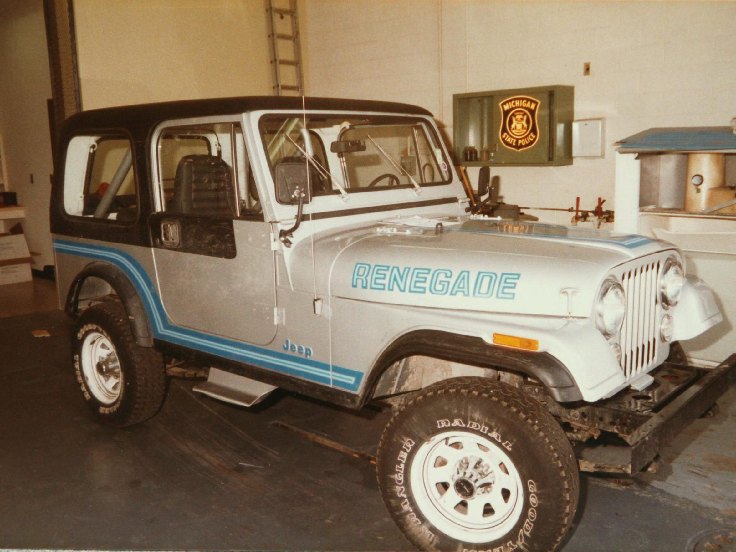 Pictured is Ronald Lloyd Bailey's Jeep Renegade that he used when he kidnapped 13-year-old Shawn Moore as he rode his bicycle home from a store near his Green Oak Township home Aug. 31, 1985.