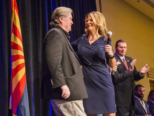 Kelli Ward and Steve Bannon